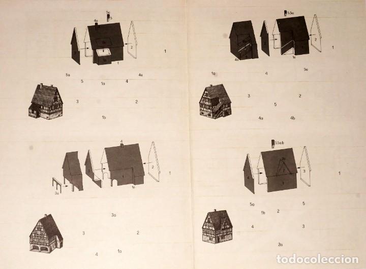 Coleccionismo Recortables: MAQUETA RECORTABLE DE 4 CASAS CON ESTRUCTURA DE MADERA (ALEMANIA ) - Foto 3 - 238313260