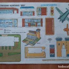Collectionnisme Images à Découper: BOGA , CONSTRUCCIONES RECORTABLES : AEROPUERTO , Nº 521. Lote 238729500