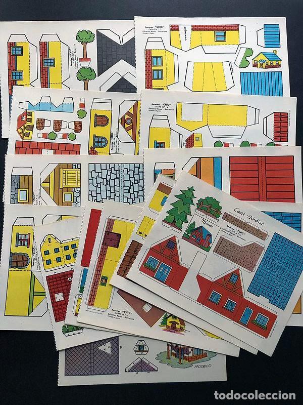 RECORTABLES CHIC CASAS ( AÑO 1968 ) 14 HOJAS DIFERENTES / 19 X 14,5 (Coleccionismo - Recortables - Construcciones)