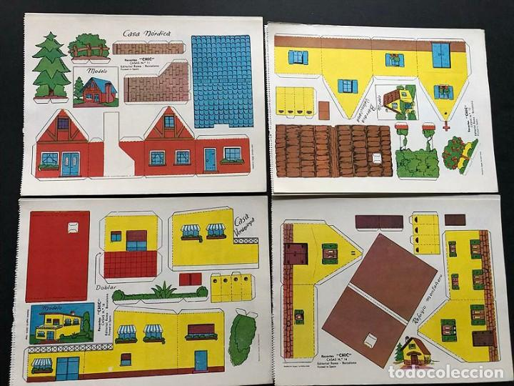 Coleccionismo Recortables: RECORTABLES CHIC CASAS ( AÑO 1968 ) 14 HOJAS DIFERENTES / 19 x 14,5 - Foto 3 - 239463225