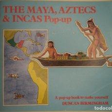 Coleccionismo Recortables: THE MAYA,AZTECS & INCAS POP PUP BRITISH MUSEUM 28 PAGINAS QUE CON LOS RECORTABLES SE HACE EL POP UP2. Lote 241018190