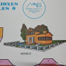Colecionismo Recortáveis: PLIEGO CON RECORTABLES DE CONSTRUCCIÓN, MAVES, 1981, VILLA, UNOS 68 X 48 CMS. ABIERTO.. Lote 242064585