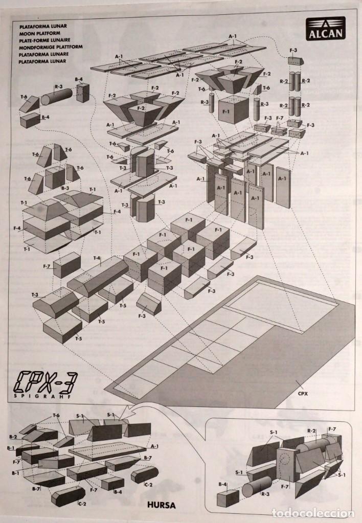 Coleccionismo Recortables: MAQUETA RECORTABLE PLATAFORMA LUNAR. CPX-3 - Foto 5 - 243896385