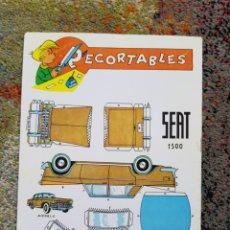 Coleccionismo Recortables: RECORTABLE SEAT 1500. Lote 244488595