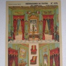 Coleccionismo Recortables: LOTE DE 7 DECORACIONES DE TEATRO - ESTAMPERÍA ECONÓMICA PALUZIE.. Lote 246425395