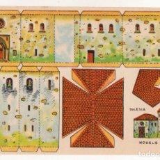 Coleccionismo Recortables: RECORTABLES CONSTRUCCIONES - IGLESIA - MUY BUEN ESTADO. Lote 246984120