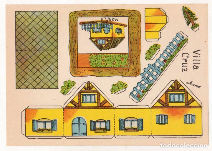 RECORTABLES CONSTRUCCIONES - VILLA CRUZ - ANARANT - PERFECTO ESTADO (Coleccionismo - Recortables - Construcciones)