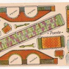 Coleccionismo Recortables: RECORTABLES CONSTRUCCIONES - ANARANT - PUENTE - MUY BUEN ESTADO. Lote 246989700