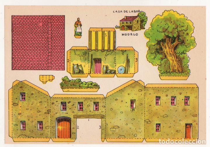 RECORTABLES CONSTRUCCIONES - CASA DE LABOR - PERFECTO ESTADO (Coleccionismo - Recortables - Construcciones)