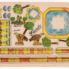 Coleccionismo Recortables: RECORTABLES CONSTRUCCIONES - FUENTE - ANARANT - MUY BUEN ESTADO. Lote 246991605