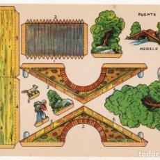 Coleccionismo Recortables: RECORTABLES CONSTRUCCIONES - PUENTE - PERFECTO ESTADO. Lote 246993435