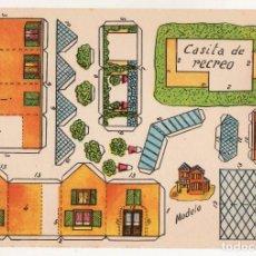 Coleccionismo Recortables: RECORTABLES CONSTRUCCIONES - CASITA DE RECREO - MUY BUEN ESTADO. Lote 247125645