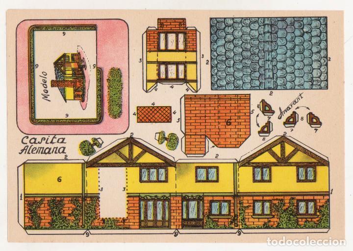 RECORTABLES CONSTRUCCIONES - CASITA ALEMANA - ANARANT - PERFECTO ESTADO (Coleccionismo - Recortables - Construcciones)