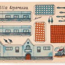 Coleccionismo Recortables: RECORTABLES CONSTRUCCIONES - VILLA ESPERANZA - PERFECTO ESTADO. Lote 247229250