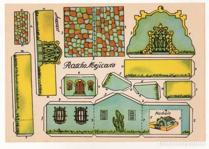 RECORTABLES CONSTRUCCIONES - RANCHO MEJICANO - PERFECTO ESTADO (Coleccionismo - Recortables - Construcciones)