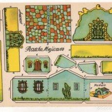 Coleccionismo Recortables: RECORTABLES CONSTRUCCIONES - RANCHO MEJICANO - PERFECTO ESTADO. Lote 247231430