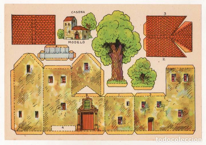 RECORTABLES CONSTRUCCIONES - CASONA - PERFECTO ESTADO (Coleccionismo - Recortables - Construcciones)