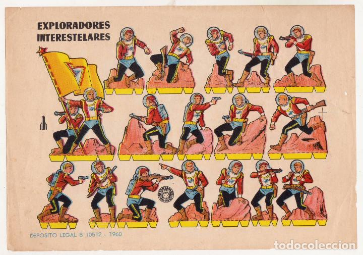 RECORTABLE - EXPLORADORES INTERESTELARES - AÑO 1960 (Coleccionismo - Recortables - Construcciones)