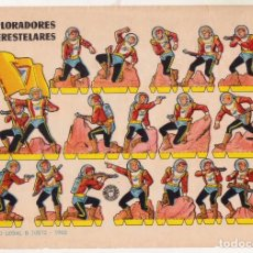 Coleccionismo Recortables: RECORTABLE - EXPLORADORES INTERESTELARES - AÑO 1960. Lote 247232705