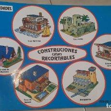 Coleccionismo Recortables: ALBUM 6 UDS RECORTABLES CONSTRUCCIONES CASAS CUENTICOLOR 1991. Lote 251584900