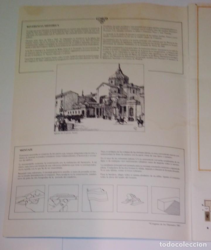 Coleccionismo Recortables: Antiguo recortable del Congreso de los Diputados. Año 1983. - Foto 2 - 253215435
