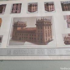 Coleccionismo Recortables: 7 LÁMINAS PARA FABRICAR UNA MAQUETA EN PAPEL DEL PALACIO DE LA GENERALITAT VALENCIANA.. Lote 253782635