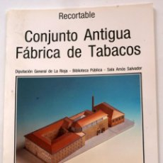 Coleccionismo Recortables: MAQUETA RECORTABLE DEL CONJUNTO ANTIGUA FÁBRICA DE TABACOS (LOGROÑO, LA RIOJA). Lote 254484935