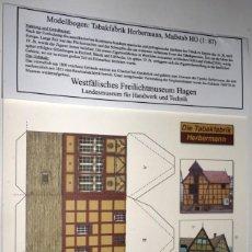 Coleccionismo Recortables: MAQUETA RECORTABLE DE LA FÁBRICA DE TABACO HERBERMANN (HAGEN.ALEMANIA). Lote 255320540