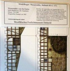 Coleccionismo Recortables: MAQUETA RECORTABLE DEL MOLINO DE AGUA DE HOF HELLER (DETMOLD.ALEMANIA). Lote 255321305
