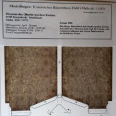Coleccionismo Recortables: MAQUETA RECORTABLE DE GRANJA DE ALTA MONTAÑA EN DAHL (.ALEMANIA). Lote 255324040