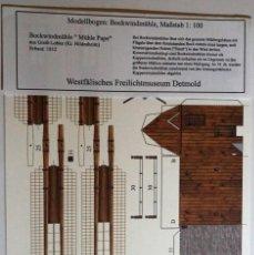 Coleccionismo Recortables: MAQUETA RECORTABLE DE MOLINO DE VIENTO (.DETMOLD-ALEMANIA). Lote 255324580