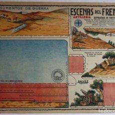 Coleccionismo Recortables: ANTIGUA MAQUETA-DIORAMA RECORTABLE DE ESCENAS DEL FRENTE 1936-39 ( Nº 1 ). Lote 255329170