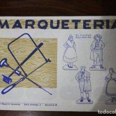Coleccionismo Recortables: MARQUETERÍA CUADERNO Nº 23. EDITORIAL MIGUEL A. SALVATELLA. 1960. Lote 261292060