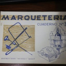 Coleccionismo Recortables: MARQUETERÍA CUADERNO Nº 33. EDITORIAL MIGUEL A. SALVATELLA. 1960. Lote 261292200