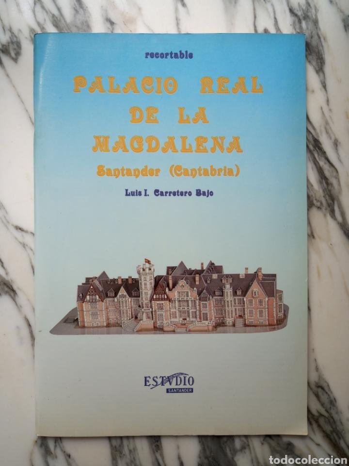 RECORTABLE PALACIO REAL DE LA MAGDALENA - SANTANDER - LUIS I. CARRETERO BAJO - ESTUDIO - 1985 (Coleccionismo - Recortables - Construcciones)