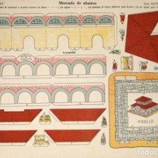 Coleccionismo Recortables: MAQUETA RECORTABLE DE MERCADO DE ABASTOS . LA TIJERA SERIE GRAN ILUSIÖN. Nº 25. Lote 262459680
