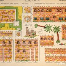 Coleccionismo Recortables: MAQUETA RECORTABLE DEL CASTILLO DE HERODES . LA TIJERA SERIE GRAN ILUSIÖN. Nº 44. Lote 262460730