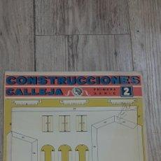 Coleccionismo Recortables: CONSTRUCCIONES CALLEJA PRIMERA SERIE 2. Lote 263189645