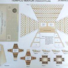 Coleccionismo Recortables: RECORTABLE DE PAPEL PARA MAQUETA DEL TEMPLO MAYOR DE TENOCHTITLÁN VINTAGE. SE PUEDE ENMARCAR. Lote 263751500