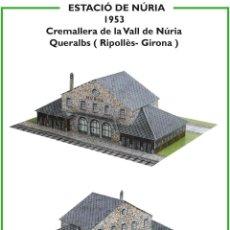 Coleccionismo Recortables: MAQUETA RECORTABLE ESTACIÓN DE NURIA (CREMALLERA VALL DE NURIA ). Lote 263773755