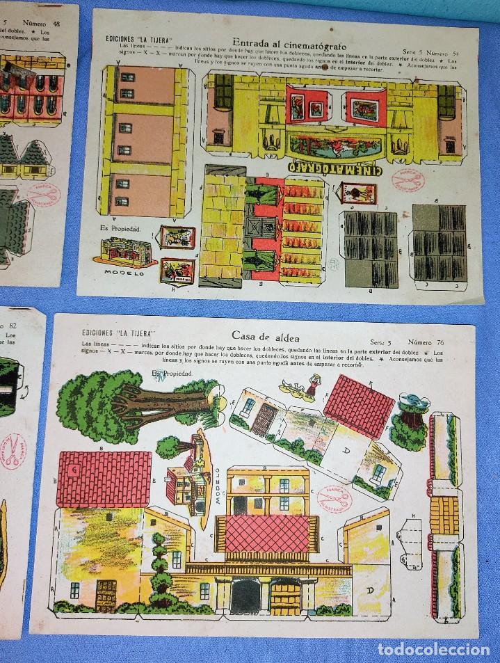 Coleccionismo Recortables: ANTIGUO LOTE DE 4 RECORTABLES DE EDICIONES LA TIJERA 4 MODELOS DISTINTOS ORIGINALES - Foto 3 - 265513259