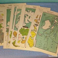 Colecionismo Recortáveis: ANTIGUO LOTE DE 6 RECORTABLES DE EDICIONES LA TIJERA 6 MODELOS DISTINTOS SERIE GEOGRAFIA ORIGINALES. Lote 265513969