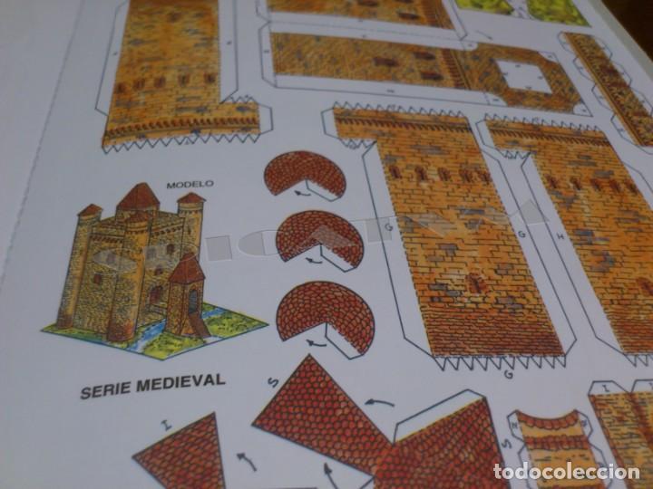 Coleccionismo Recortables: CASTILLOS - RECORTABLES - PAPER-MODEL - SERIE MEDIEVAL - CARPETA - 8 LAMINAS - CASTILLO - NUEVO - Foto 15 - 265769834