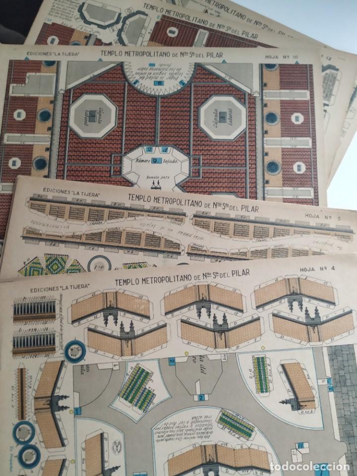 Coleccionismo Recortables: RECORTABLES templo metropolitano nuestra Sra del pilar - Foto 4 - 267505729