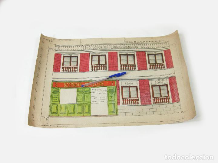RECORTABLE DE FACHADA DE LA CASA DE MUÑECAS Nº 178. SUCESORES DE HERNANDO (Coleccionismo - Recortables - Construcciones)