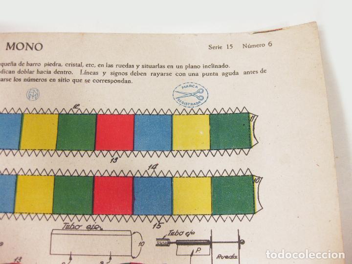 Coleccionismo Recortables: RECORTABLE DE CONSTRUCCIONES EN MOVIMIENTO FNM - MONO SERIE 15 Nº 6 - Foto 3 - 267664319