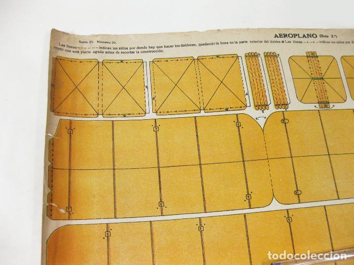 Coleccionismo Recortables: RECORTABLE DE LA TIJERA - AEROPLANO SERIE 25 Nº 20 - Foto 2 - 267665289