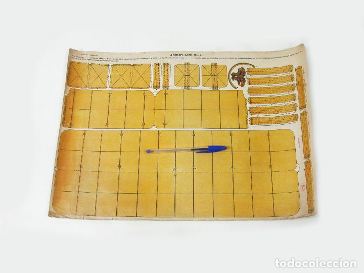 RECORTABLE DE LA TIJERA - AEROPLANO SERIE 25 Nº 20 (Coleccionismo - Recortables - Construcciones)
