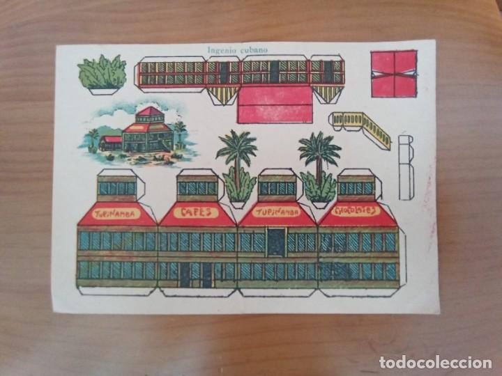 INGENIO CUBANO. ANTIGUO RECORTABLE CAFÉS Y CHOCOLATES TUPINAMBA. AÑOS 50. (Coleccionismo - Recortables - Construcciones)