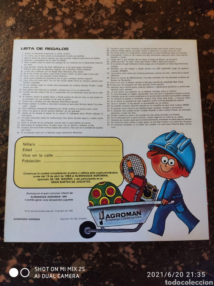 Coleccionismo Recortables: GRAN CONCURSO INFANTIL, CONSTRUIR UNA CIUDAD DE PAPEL (AGROMAN EMPRESA CONSTRUCTORA) (1984) - Foto 3 - 270392628